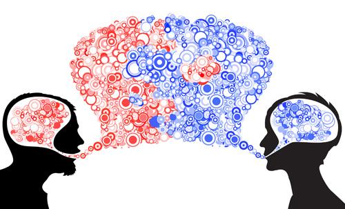 Abstract dialog illustration