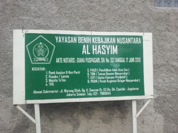 Yayasan benih kebajikan nusantara al hasyim