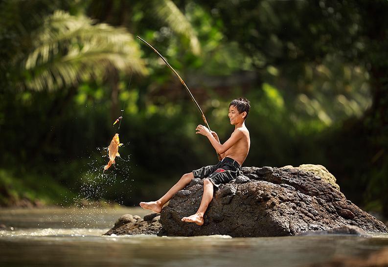 ловить золотую рыбку