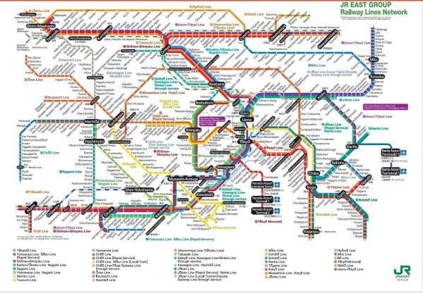 peta railway jepang